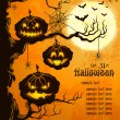 Orange grungy halloween background - Stock Vector
