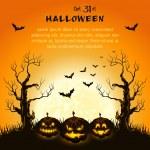 fond orange d'halloween grungy — Vecteur