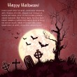 Pink grungy halloween background - Stock Vector