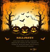 Orange grungy halloween background — Stock Vector