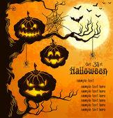 Oranje grungy halloween achtergrond — Stockvector