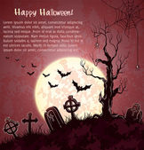 Pink grungy halloween background — Stock Vector