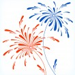 Festive firework in honor of Independence day - Stock Vector