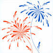 Festive firework in honor of Independence day — Stock Vector