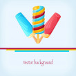 Background with yummy ice cream - Stock Vector