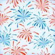 Seamless pattern of fireworks — Stock Vector