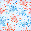 Seamless pattern of fireworks - Stock Vector