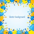 Background with blue and yellow blots - Stock Vector