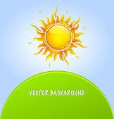 Stylized vector sun background — Stock Vector