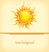Background with hot sun — Stock Vector