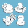 Hats set — Stock Vector