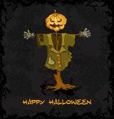 Spooky jack-o-lantern — Stok Vektör