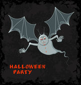 Spooky vampier met bloed — Stockvector