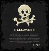 Kaart met skull and crossbones — Stockvector