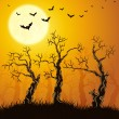 Spooky forest - Stock Vector
