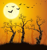 Spooky forest — Stock Vector