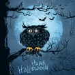 Grungy halloween background — Vector de stock