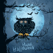 Grungy halloween background - 
