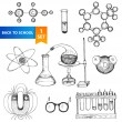 Science set — Stock Vector