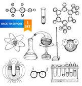 Science set — Stock Vector