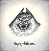 在素描样式的可怕怪物 — 图库矢量图片
