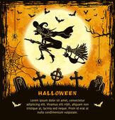 Spooky card for Halloween — Stock Vector
