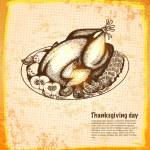 Roast turkey for holiday dinner — Stock Vector #31512977