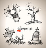 Halloween set. — Stock Vector