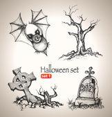 Halloween set. — Stock Vector