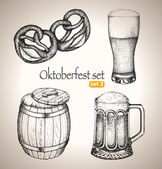 Beer set. — Stock Vector