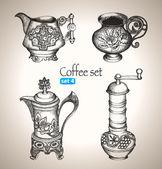 Coffee set. — Stock Vector