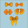 Stock Vector: Set of vector bow ties