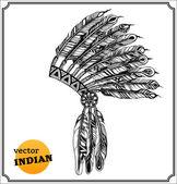 Amerikan Kızılderili şefi headdress — Stok fotoğraf