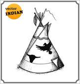 Indians teepee — Stock Photo
