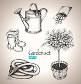 Garden set — Stock Vector