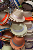 Men's hats for sale — Stock Photo