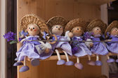 Purple lavender dolls in the shop — Stock Photo