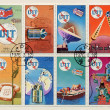 Foto Stock: Block of stamps