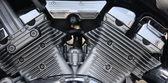 The motor of a powerful motorbike — Stockfoto