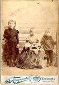 Four Children Vintage — Stock Photo