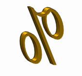 Golden text % — Stockfoto