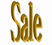 Gouden tekst verkoop — Stockfoto