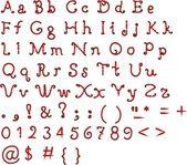 The alphabet in calligraphy brush — Stock Vector
