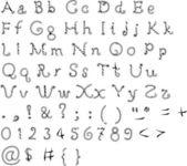 The alphabet — Stock Vector