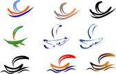 Loď logo na bílém designu výrobků — Stock vektor