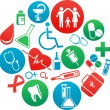 Background with medicine icons and elements — стоковый вектор #13961228
