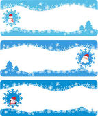 Winter banners and backgrounds — Stock Vector