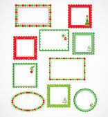 Christmas frames and labales — Stock Vector