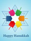 Vector illustration of Hanukkah — Stock Vector
