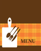 Menu template with kitchen elements — Stock Vector